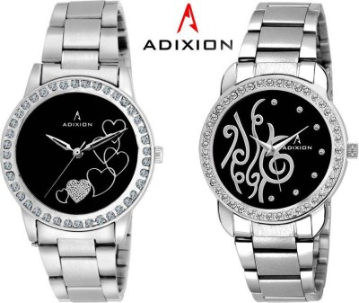 Adixion 9404SMB101 New Stainless Steel Combo Collection Watches Analog Watch  - For Girls