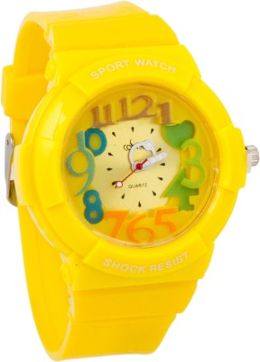 Cosmic SUPER COOL KIDS WATCH - YELLOW RUBBER STRAP Analog Watch  - For Girls, Boys
