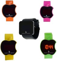 VITREND Touch Led Screen Combo set of 5 Digital Watch For Men
