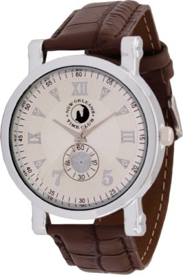 New Orleans Time Club NOR-028-SIL-016 Analog Watch  - For Men