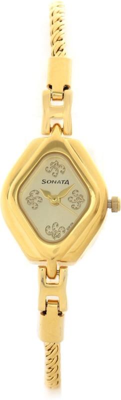 Sonata 87010YM03CJ Analog Watch For Women