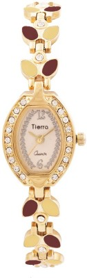 Tierra NGL-GOLD Exotic Leaf Analog Watch  - For Women, Girls