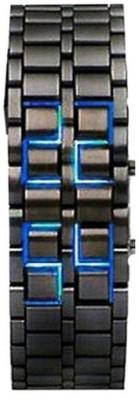 Felizo LED (Black with Blue LED) LED Metal Band watch Digital Watch  - For Men