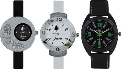 Frida Designer VOLGA Beautiful New Branded Type Watches Men and Women Combo382 VOLGA Band Analog Watch  - For Couple