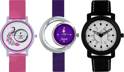Frida Designer VOLGA Beautiful New Branded Type Watches Men and Women Combo565 VOLGA Band Analog Watch  - For Couple