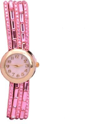 SHH Stone Pink Bracelet Analog Watch  - For Women