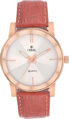 CORAL ROSE BROWN CORAL Analog Watch  - For Men, Boys