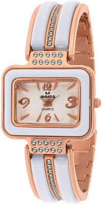 Marco Mr-Lsq089-Wht-Gld Jewel Analog Watch  - For Women
