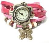 Mood of Wood Stylish Pink Analog Watch  ...