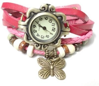 Mood of Wood Stylish Pink Analog Watch  - For Girls, Women