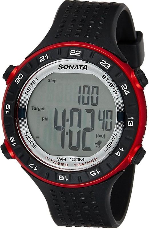 Sonata 77040PP02 Digital Watch For Men