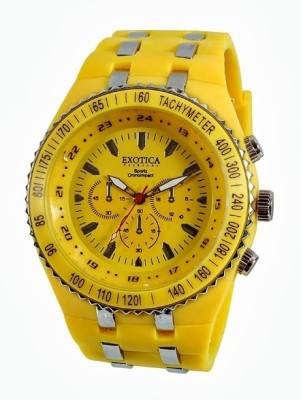 Exotica Fashions EF-01-Yellow-PL Analog Watch image