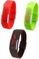 COSMIC MX4399 PACK OF 3 DIGITAL LED WATCH Digital Watch For Me