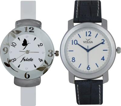Frida Designer VOLGA Beautiful New Branded Type Watches Men and Women Combo190 VOLGA Band Analog Watch  - For Couple
