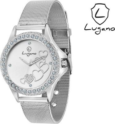Lugano DE2022LG Analog Watch  - For Women, Girls