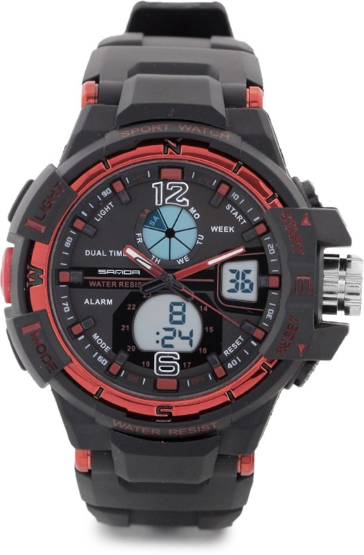 Sanda S7753RE Analog Digital Watch For Men