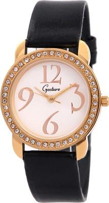 Gesture Gesture Elegant 8025-Wh-Gold Watch For Women Elegant Analog Watch  - For Women