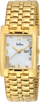 Britton Day and Date Display-BR-GSQ051-SLV-GLD Analog Watch  - For Men