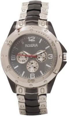 BYC ROSRA 53016 Black & Silver Analog Watch  - For Boys, Men
