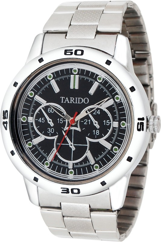 Tarido TD GR215 BLK SLV Analog Watch For Men