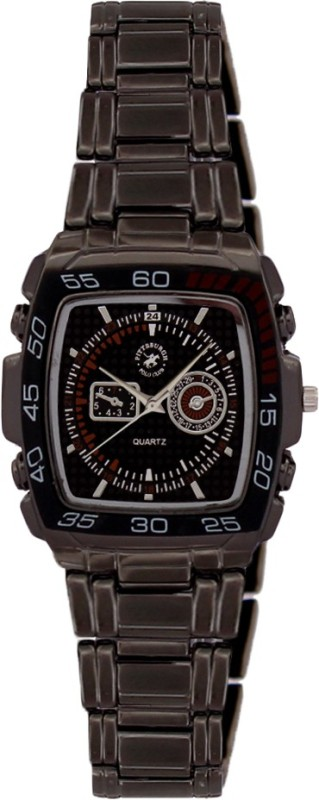 Pittsburgh Polo Club PBPC 395 SS BLK Analog Watch For Men