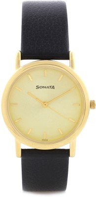 Sonata NF7987YL01 Analog Watch - For Men