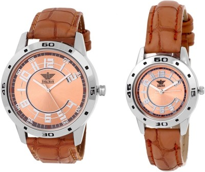 Swiss Rock Brown Royal Analog Watch  - For Couple