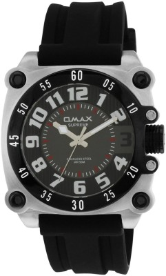 Omax SS272_Black Analog Watch - For Men
