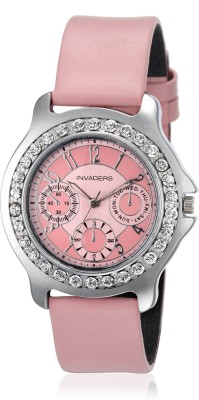 Invaders Chrono Look Pink Analog Watch  - For Women