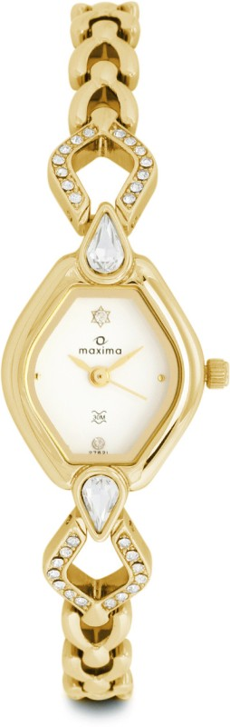 Maxima 27621BMLY Gold Analog Watch For Women