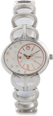 Titan NF9922SM01 Purple Analog Watch - For Women