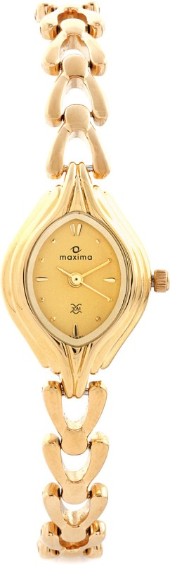Maxima 04881BMLY Gold Analog Watch For Women