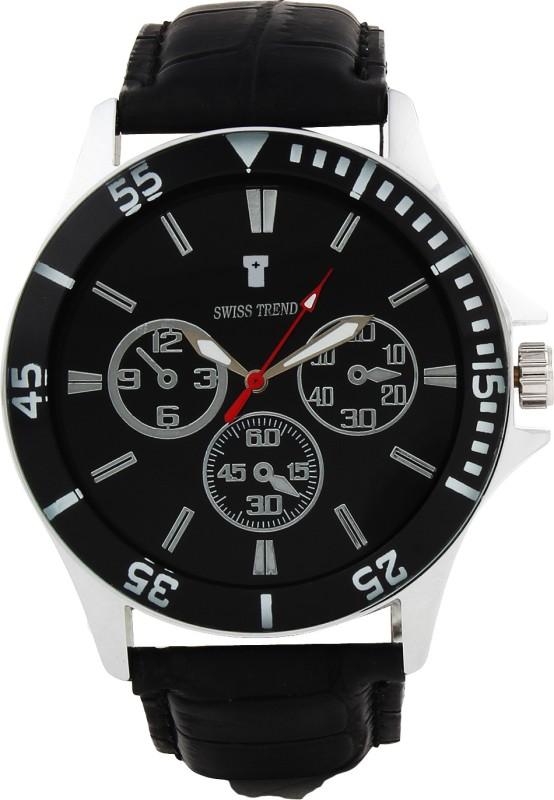 Swiss Trend Artshai1631 Stunning Black Analog Watch For Men