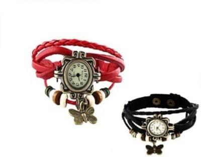 Yashmit BRACELET BUTTERFLY RED BLACK YE-4174 Analog Watch  - For Women