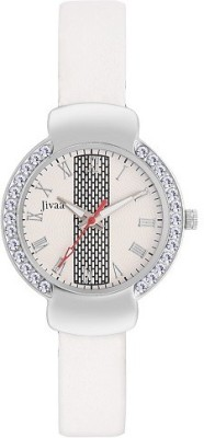 Jivaa White Glitz Collection Analog Watch  - For Girls, Women