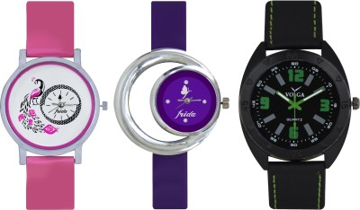 Frida Designer VOLGA Beautiful New Branded Type Watches Men and Women Combo567 VOLGA Band Analog Watch  - For Couple