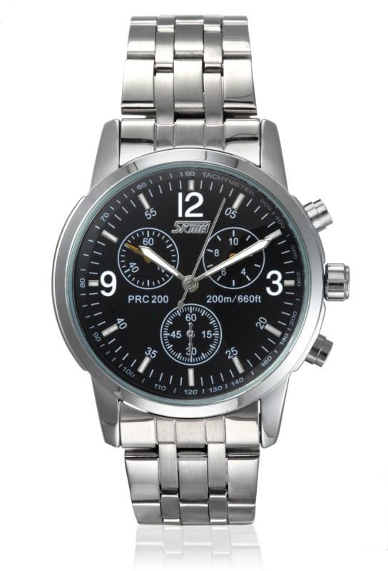 Skmei 9070C Black SS Formal Analog Watch For Men
