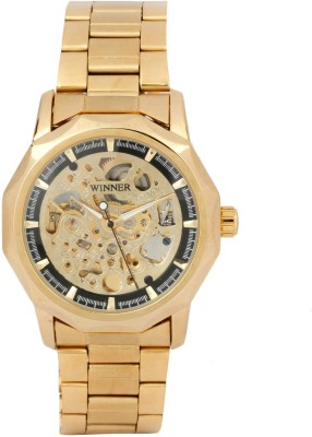 Winner Luxury Metal Chain Mechanical MW006 (Without Battery for Life!) Analog Watch  - For Men