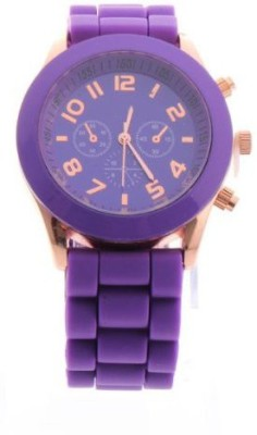 Zillion Candy Purple Silicone Strap Analog Watch  - For Girls, Women