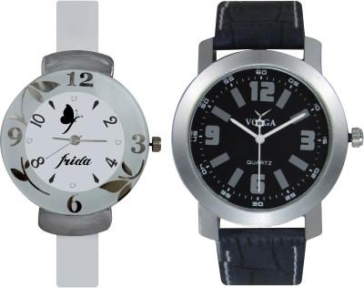 Frida Designer VOLGA Beautiful New Branded Type Watches Men and Women Combo209 VOLGA Band Analog Watch  - For Couple