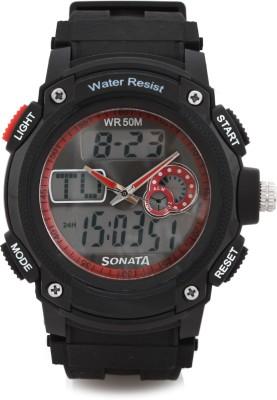 Sonata NH7989PP03 Analog-Digital Watch - For Men
