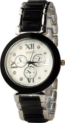 RODEC blk-slvr chain cute blk dial 602 Analog Watch  - For Girls