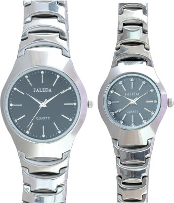 Faleda P6124GCHB Standred Analog Watch  - For Couple