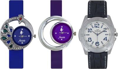 Frida Designer VOLGA Beautiful New Branded Type Watches Men and Women Combo462 VOLGA Band Analog Watch  - For Couple