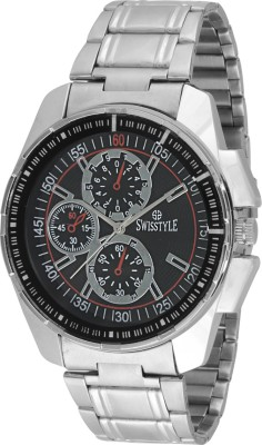 Swisstyle SS-GR1409-BLK-CH Flunky Analog Watch  - For Men