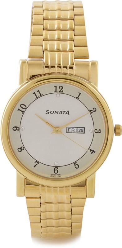 Sonata 7987YM03J Townsman Analog Watch For Men