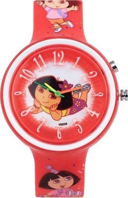 Cosmic Cosmic Amazing Dora Kids Watch With 14 Multi Colour Light.B08 Analog Watch  - For Girls