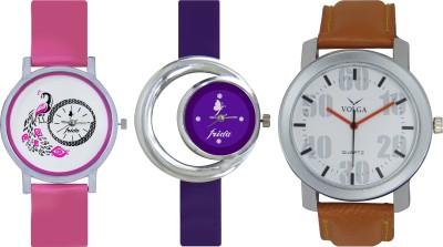 Frida Designer VOLGA Beautiful New Branded Type Watches Men and Women Combo576 VOLGA Band Analog Watch  - For Couple