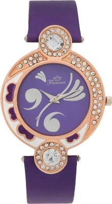 Florence F-PUR-GLD-072 Analog Watch  - For Women