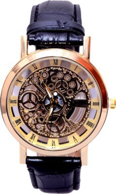 Mobspy BT-14 Transparent Golden Case Stylish Watch Analog Watch  - For Men